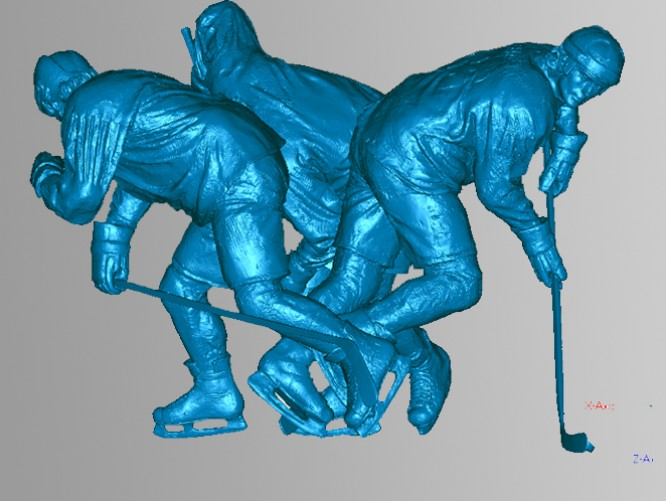 "Bronze statue, ""Le Magnifique"" by sculptor Bruce Wolfe in studio"