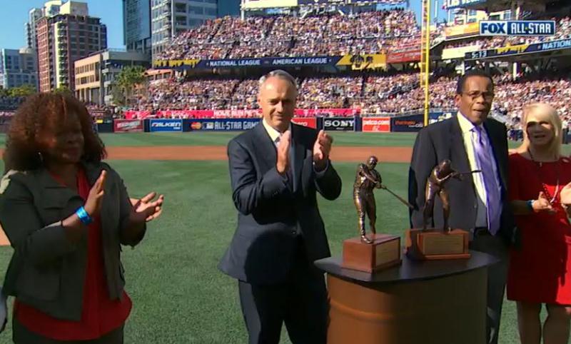 Scansite -MLB batting trophy unveiling