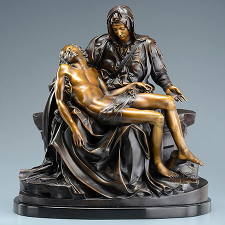 One-quarter scale bronze cast of Michelangelo's Pieta created from 3D scanning and 3D printing.